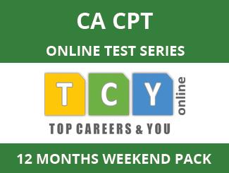 CA-CPT Online Test Series (12 Month Pack, Weekend Pack)