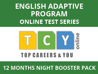 English Adaptive Program Online Test Series (12 Month Pack, Night Booster Pack)