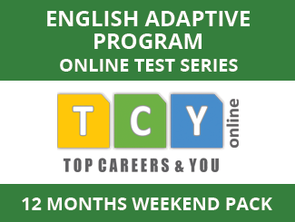English Adaptive Program Online Test Series (12 Month Pack, Weekend Pack)