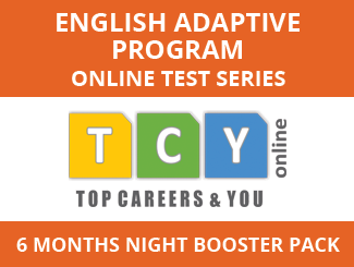 English Adaptive Program Online Test Series (6 Month Pack, Night Booster Pack)
