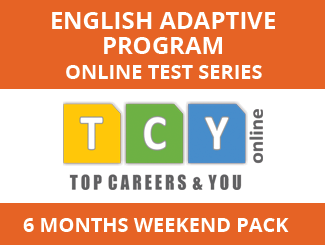 English Adaptive Program Online Test Series (6 Month Pack, Weekend Pack)