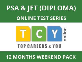 PSA & JET (Diploma) Online Test Series (12 Month Pack, Weekend Pack)