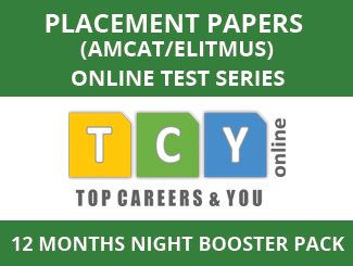 Placement Papers (AMCAT/eLitmus) Online Test Series (12 Month Pack, Night Booster Pack)
