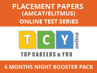Placement Papers (AMCAT/eLitmus) Online Test Series (6 Month Pack, Night Booster Pack)