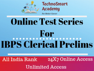 IBPS Clerical Prelims Online Test Series (English)