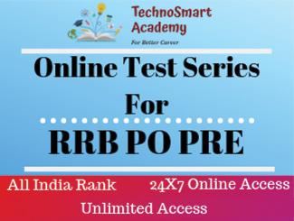 RRB PO PRE Online Test Series (Hindi)