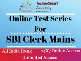 SBI Clerk Mains Online Test Series (English)