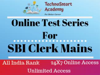SBI Clerk Mains Online Test Series (English)