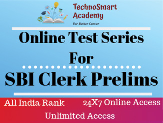 SBI Clerk Prelims Online Test Series (English)