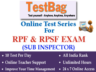 RAILWAY PROTECTION FORCE (RPF) / RPSF EXAM FOR SUB INSPECTOR Online Test Series 1 Month