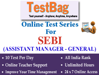 SEBI SECURITIES AND EXCHANGE BOARD OF INDIA RECRUITMENT EXAM (ASSISTANT MANAGER) Phase 1 Online Test Series 3 Months