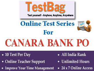 CANARA BANK PROBATIONARY OFFICER EXAM Online Test Series 3 Months