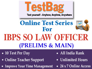 IBPS CRP SO LAW OFFICERS PRELIMS & MAIN EXAM Online Test Series 1 Month
