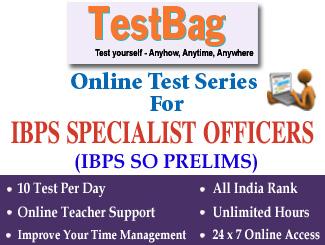 IBPS CRP SO PRELIMS EXAM Online Test Series 3 Months