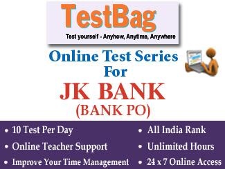 JAMMU AND KASHMIR BANK PO RECRUITMENT EXAM Online Test Series 1 Month