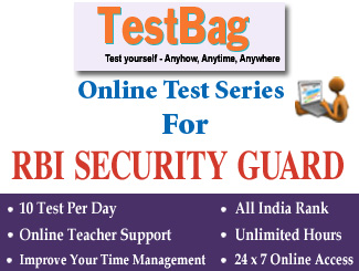 RBI RECRUITMENT FOR THE POST OF SECURITY GUARDS Online Test Series 1 Month