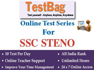 SSC STENOGRAPHERS (GRADE C AND D) EXAMINATION Online Test Series 3 Months