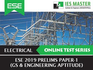 ESE 2019 Prelims Online Test Series Paper-1 (GS